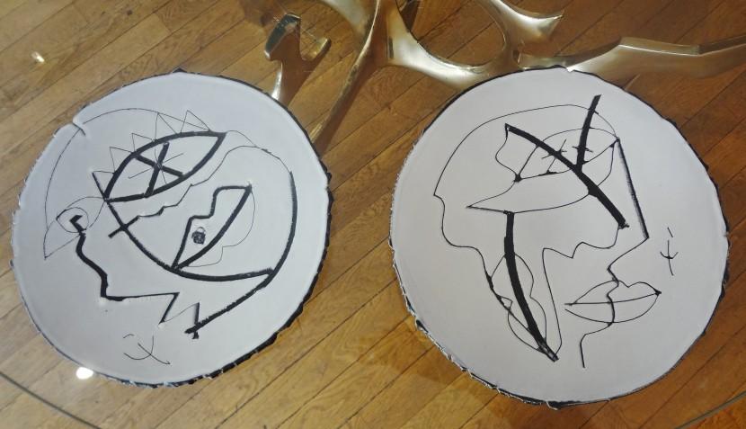 Light grey plates